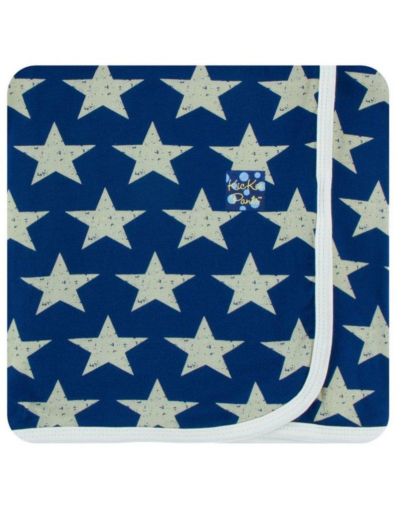KICKEE PANTS Vintage Stars Swaddling Blanket