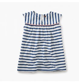 TEA COLLECTION Tea Cobalt Pom Pom Trimmed Dress