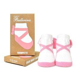 TRUMPETTE Organic Pink Ballerina Socks