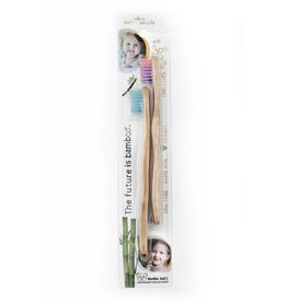 Kids Bamboo Toothbrush - 2 Pack