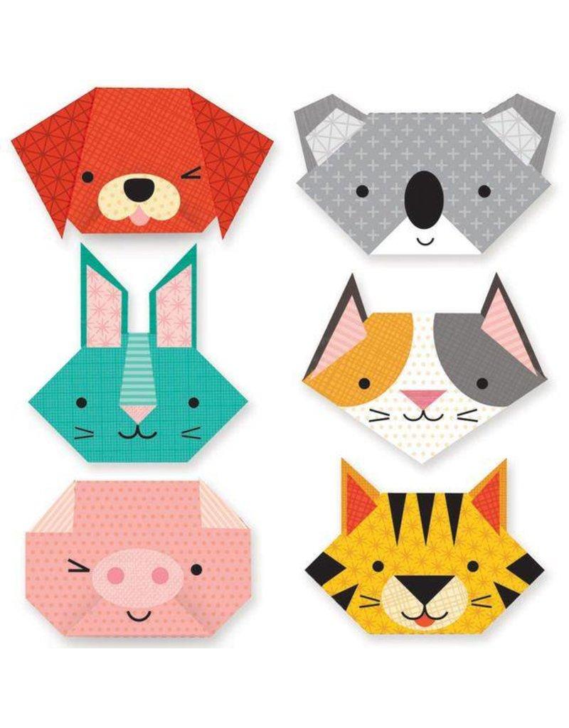 PETIT COLLAGE Animal Faces Origami Fun Craft Color
