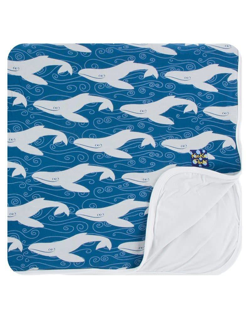 KICKEE PANTS Twilight Whale Toddler Blanket
