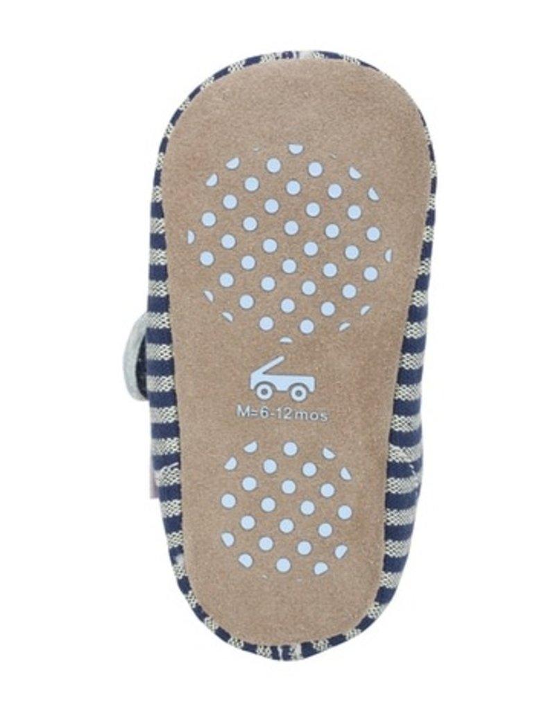 SEE KAI RUN Cruz Blue Stripes Crib Shoe