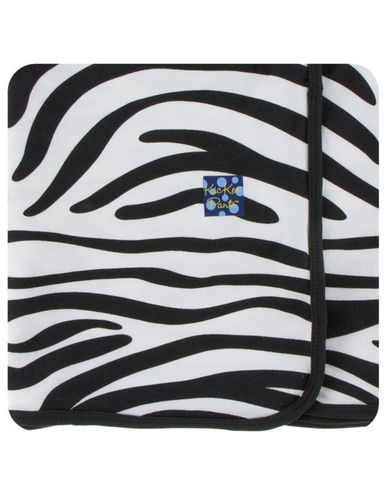 KICKEE PANTS Natural Zebra Print Swaddling Blanket
