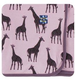 KICKEE PANTS Sweet Pea Giraffe Swaddling Blanket