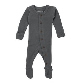 L'OVED BABY Organic Thermal Footed Overall - Graphite
