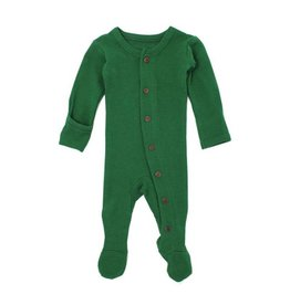 L'OVED BABY Organic Thermal Footed Overall - Emerald