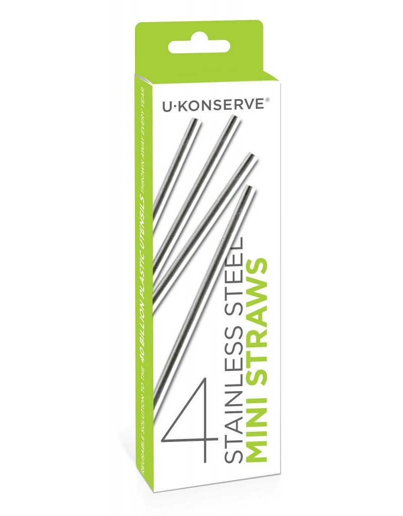 KIDS KONSERVE Stainless Steel Mini Straws (4 Pack)