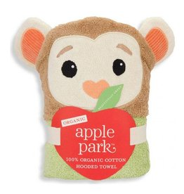 APPLE PARK Monkey Hooded Towel
