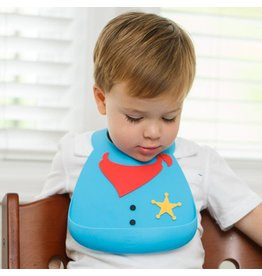 MAKE MY DAY Sheriff Silicone Baby Bib