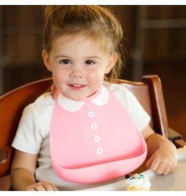 MAKE MY DAY Peter Pan Collar Pink Silicone Baby Bib