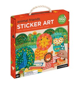 PETIT COLLAGE Animal Friends Preschool Sticker Art Kit