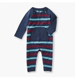TEA COLLECTION Tea Indigo Striped Pocket Romper