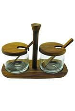 Acacia Tray, Jar & Spoon