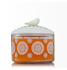 Thymes Mandarin Coriander 3-Wick Candle with Bird Lid