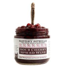 Sour Cherry Spiced Wine Spread