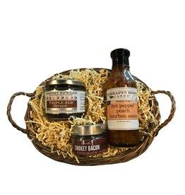 Onion Spread, Bourbon Sauce and Bacon Salt Gift