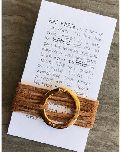 Be Real circle pendant