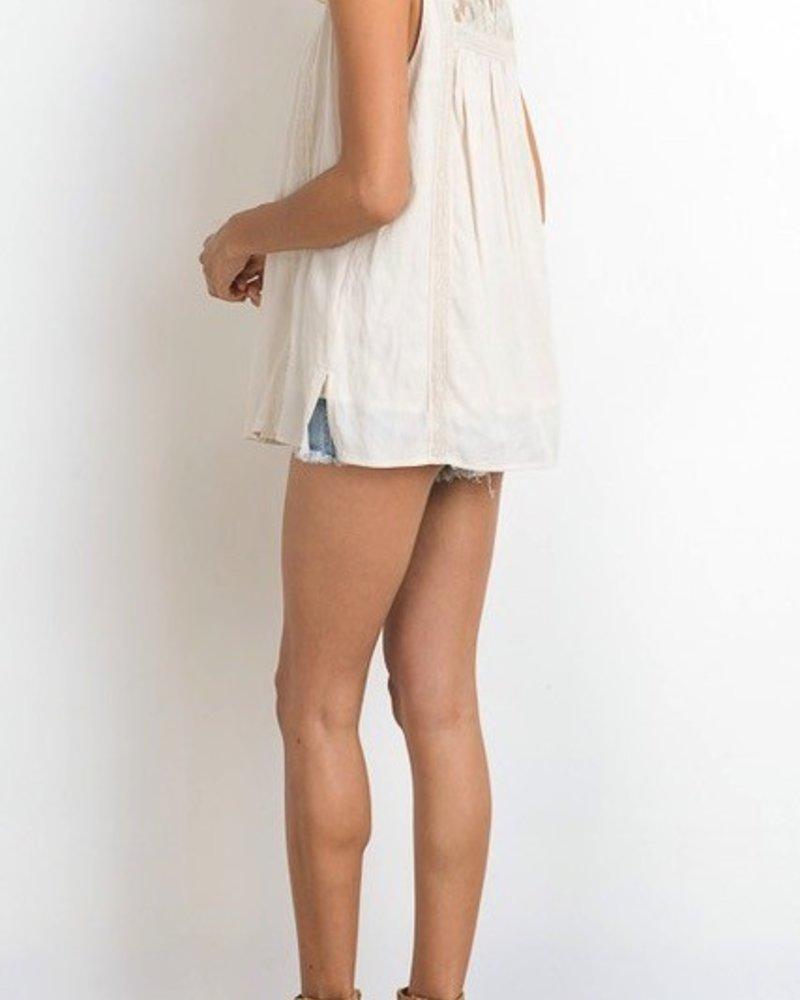 S/L  Crochet trim pocket frt top
