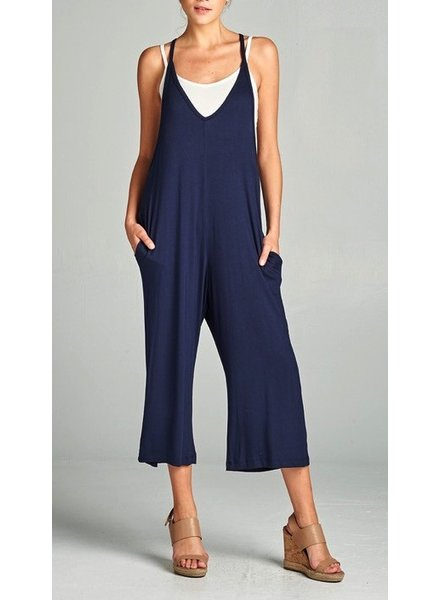 V-neck Jumpsuit with Pocket
