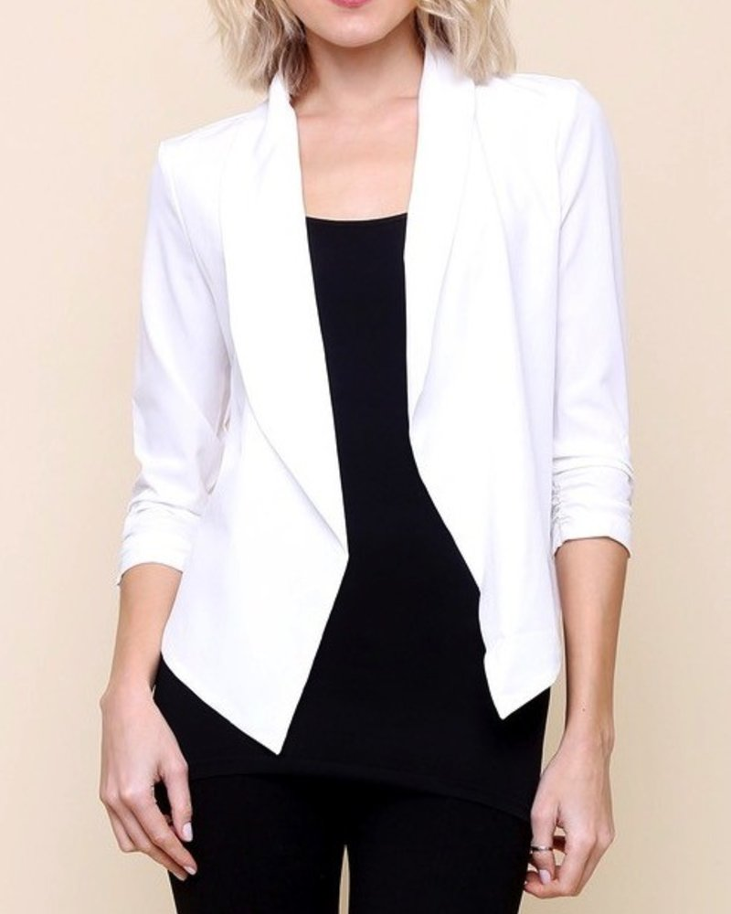 Blazer with Cinched Sleeves