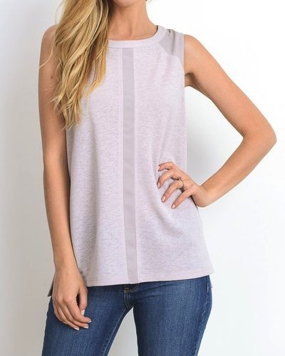 Tank With Woven Insets