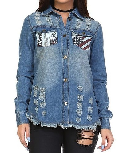 Flag Pocket Denim Jacket