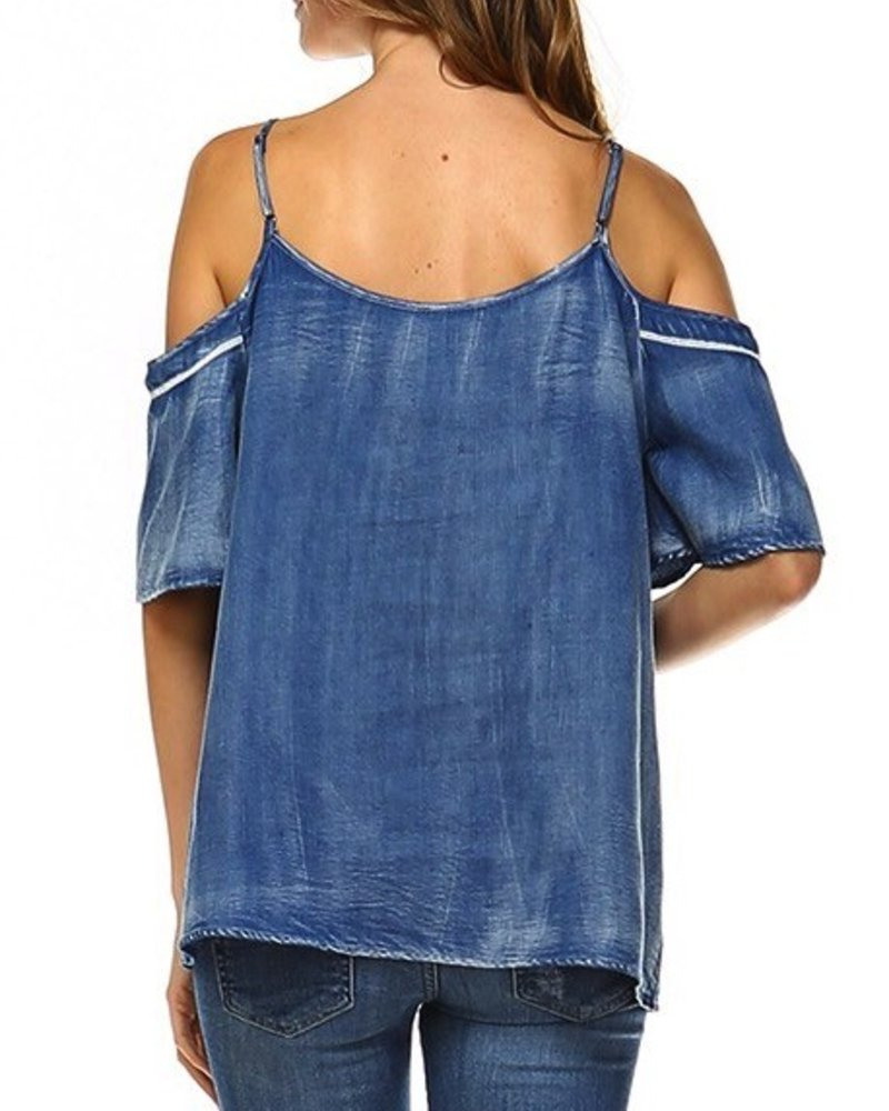 Acid Wash Denim Top