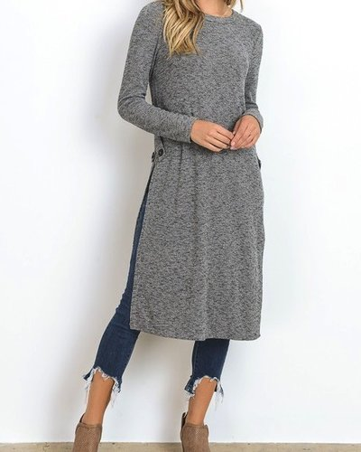 Long Shirt With Side Slit
