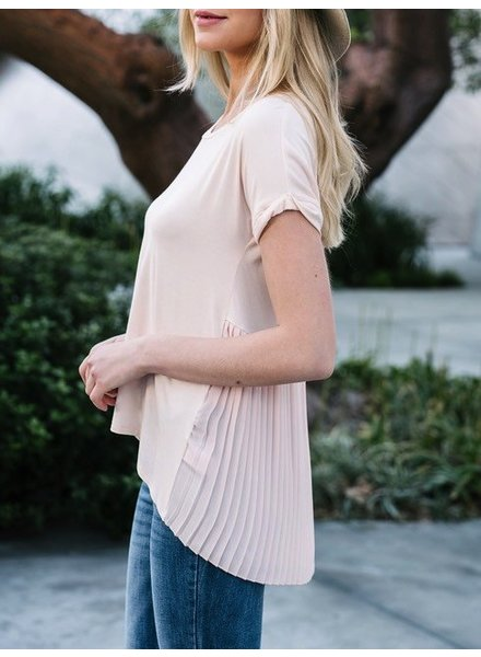 High Low Top with Pleats in Back