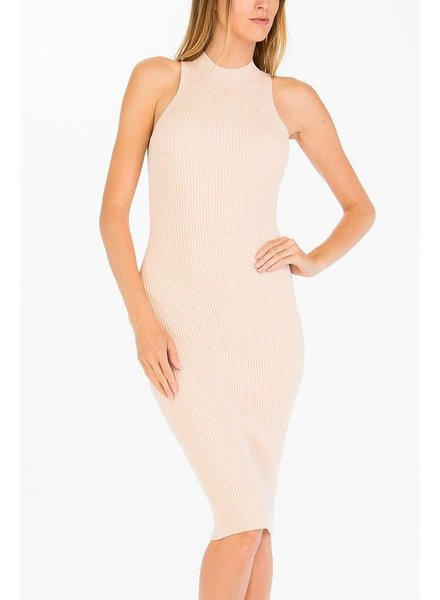 Ribbed Mock Neck Dress