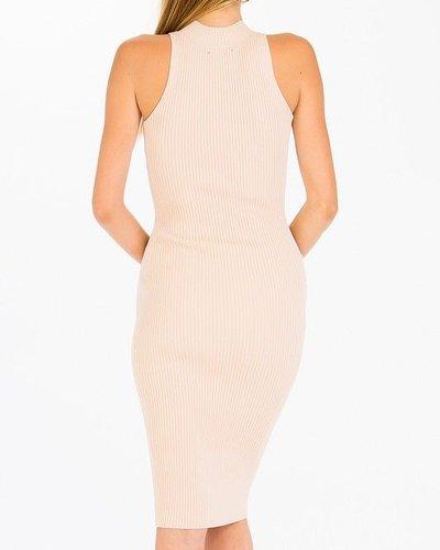Ribbed Mock Neck Dress