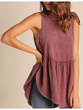 Washed Ruffle Top