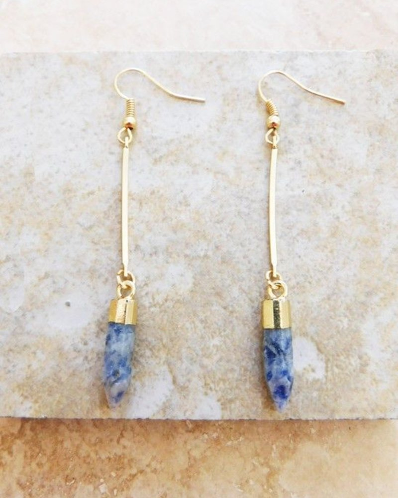 Roman Natural Stone Earrings