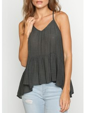 High Low Gathered Top