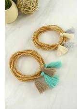6 seed bead bracelet set