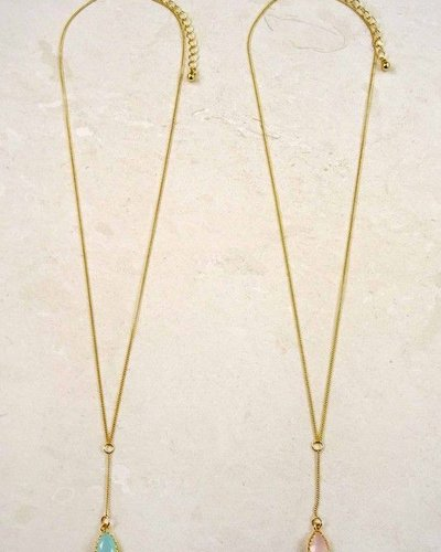 Stone Y Necklace
