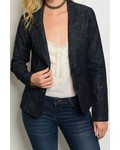 Dark Wash Denim Blazer