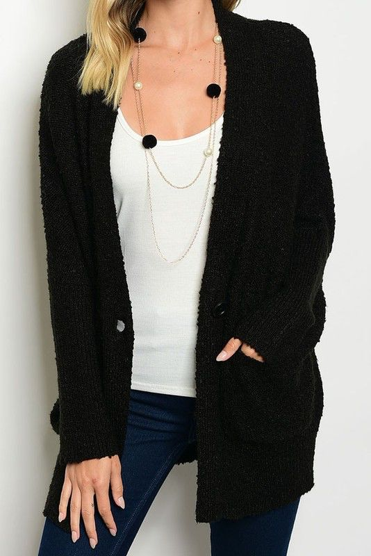 Button Up Sweater Cardigan