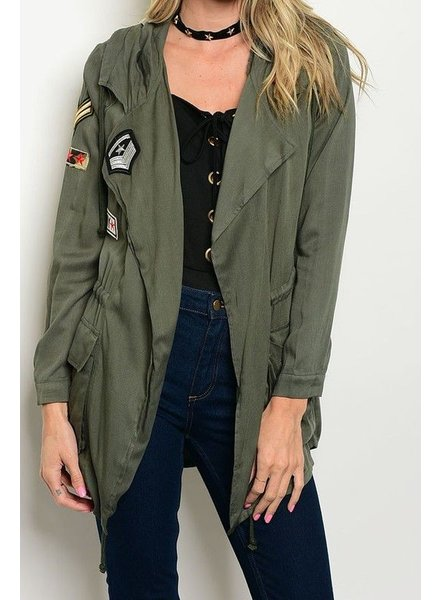 Anorak Jacket with Patch Details
