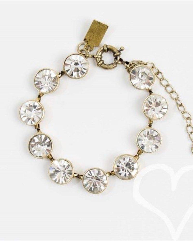 Antique Gold Brulee Diamond Bracelet