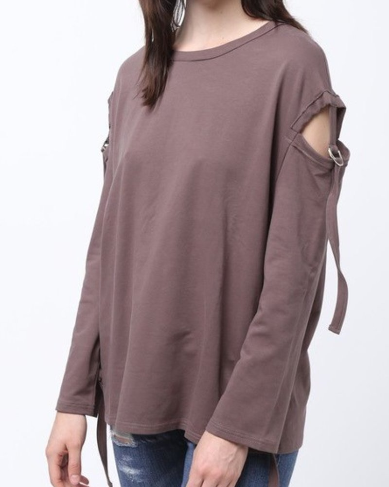 Top with Open Arm Details