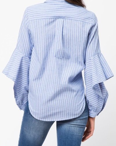 Striped Denim Button Up