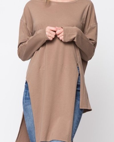 Long Sleeve Tunic with Side Slits