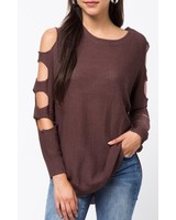 cut-out sleeve sweater