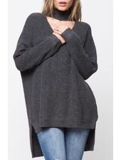 Turtleneck choker sweater