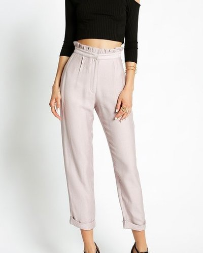 Ruffle high waist pant