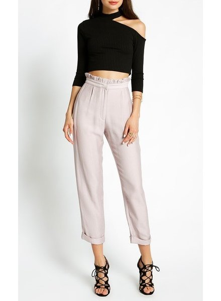 Ruffle high waist pant