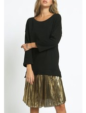 Terry midi w/metallic skirt