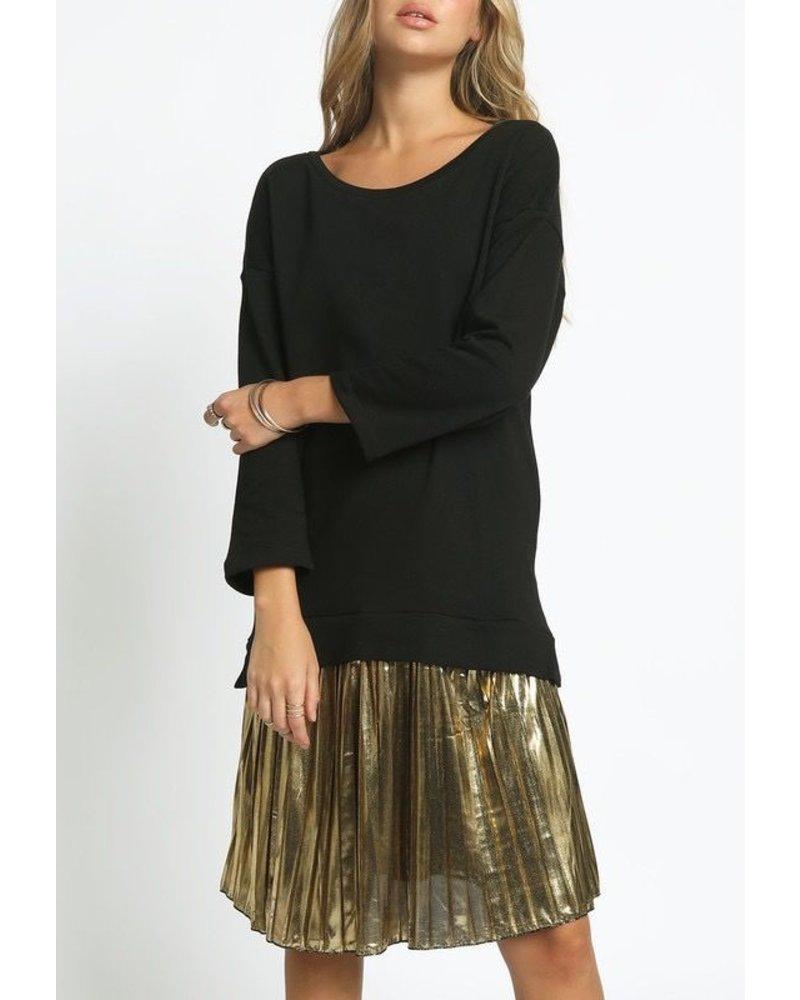 Terry midi w/metallic skirt